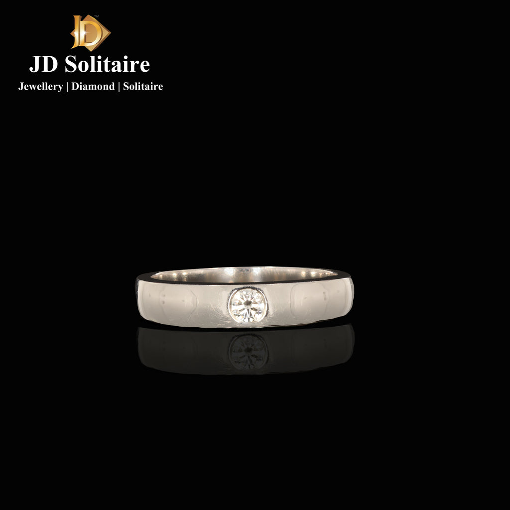 Single Diamond Platinum Ring