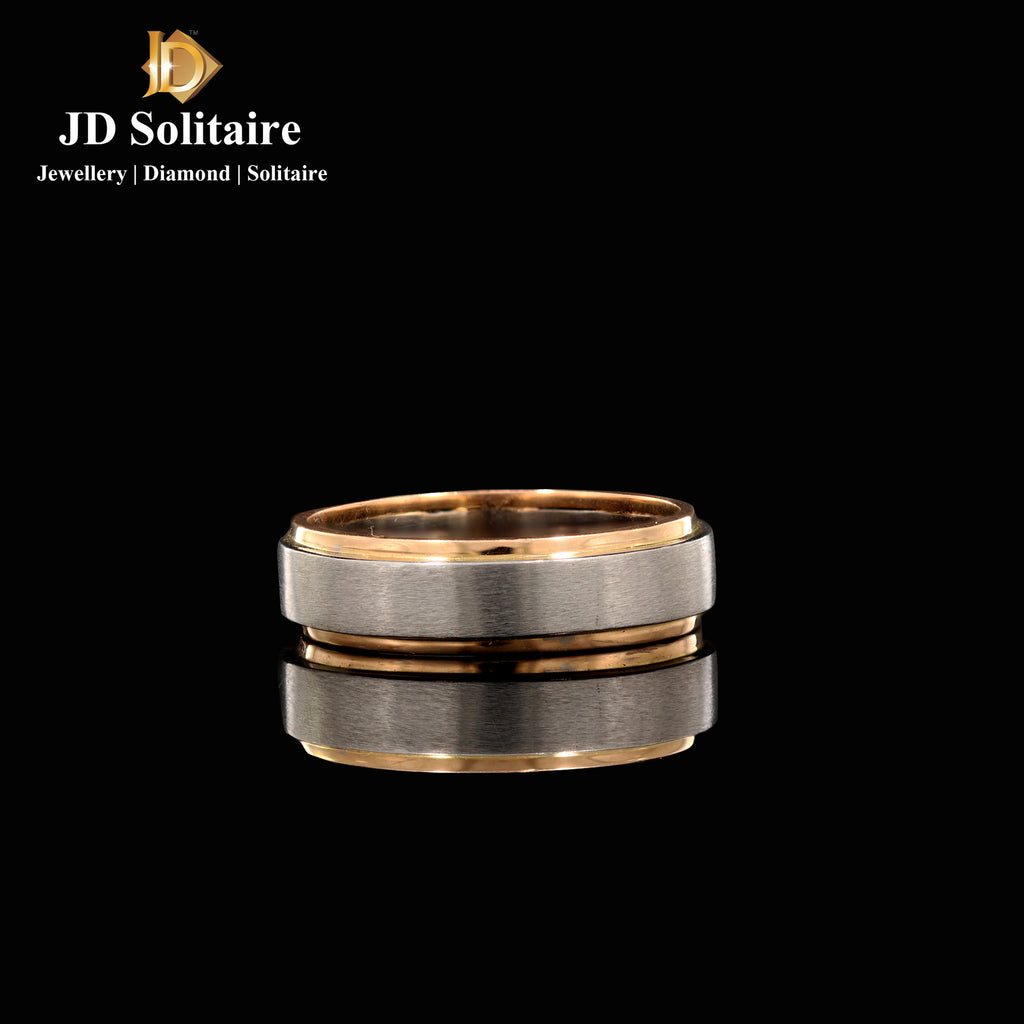 Platinum With Gold Band Ring