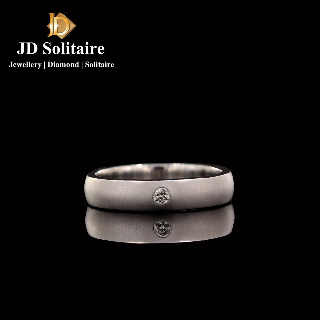 Single Diamond White Gold Ring