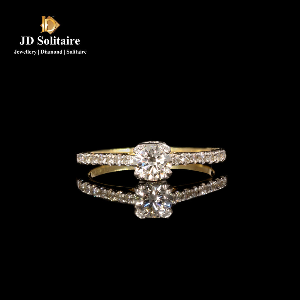 Solitaire With Small Diamond Ring