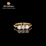 Illusion Setting Diamond Yellow Gold Ring