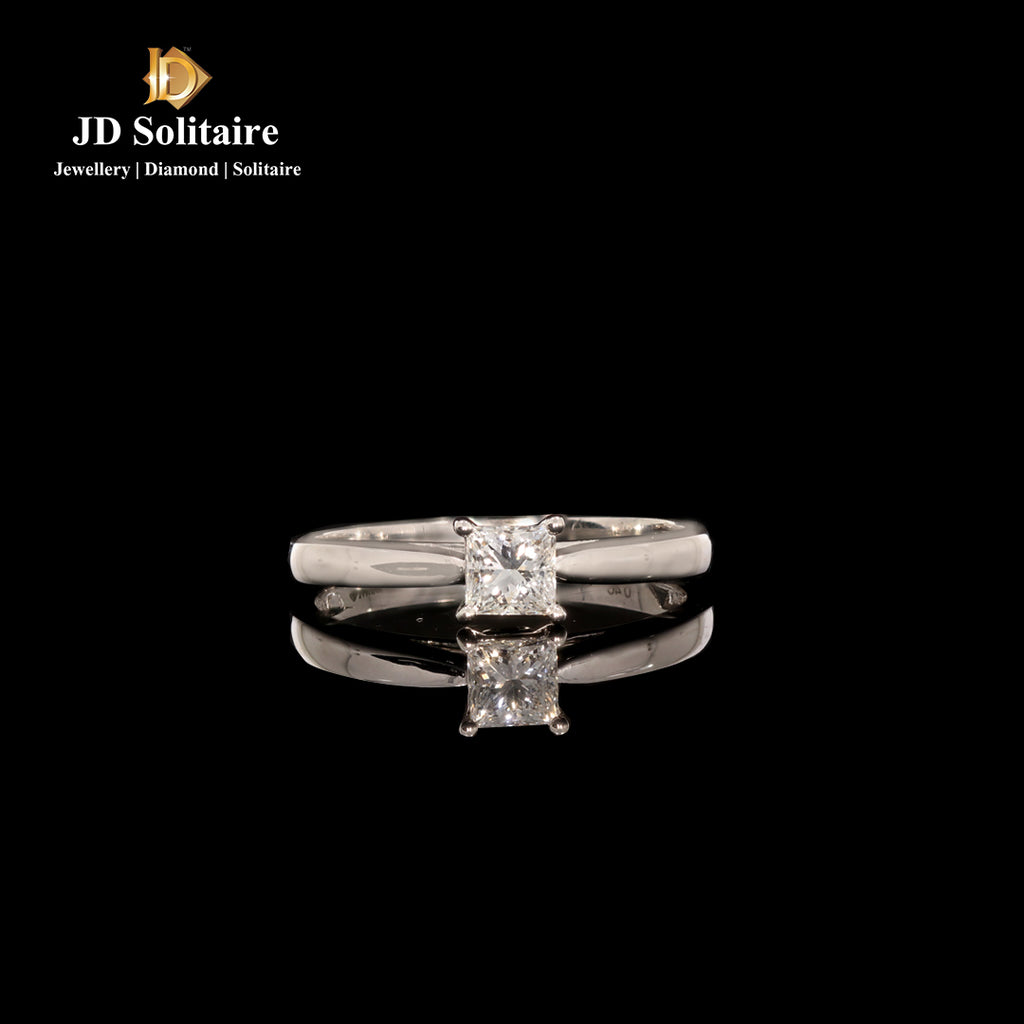 Princess Cut With Small Diamonds Ring