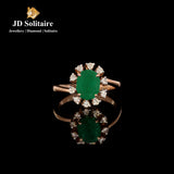 Emerald Diamonds Yellow Gold Ring