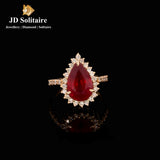 Ruby Diamonds Yellow Gold Ring