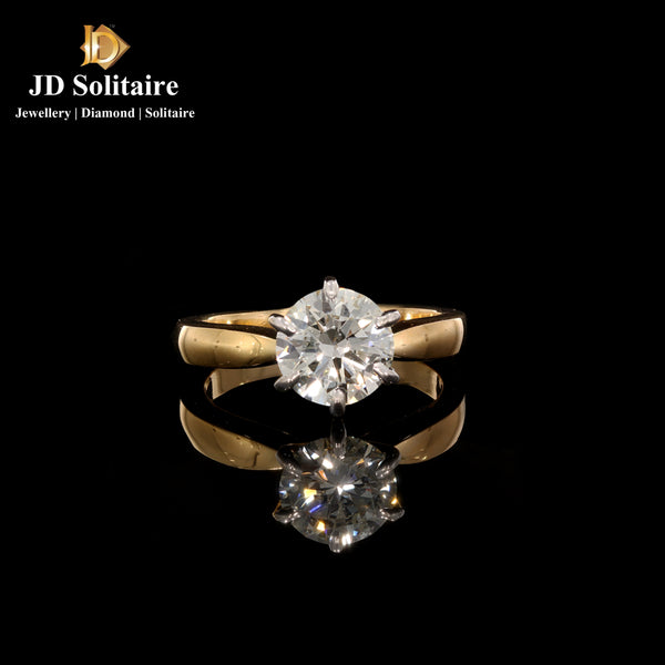 Solitaire Yellow Gold Ring