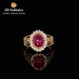 Diamond & Ruby Yellow Gold Ring