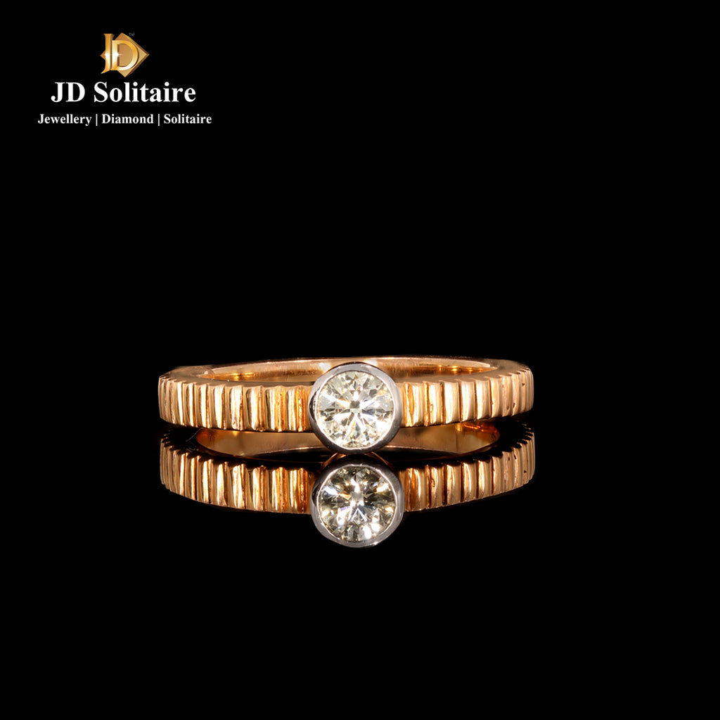 Solitaire Diamonds Rose gold Ring