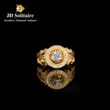 Solitaire with Small Diamond Yellow Gold Ring