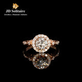 Solitaire with Small Diamond Rose Gold Ring