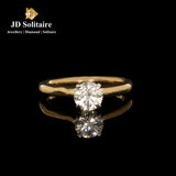 Solitaire Diamond Yellow Gold Ring