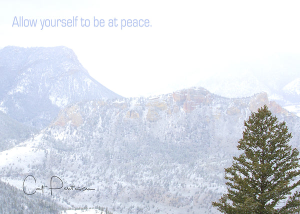 BE AT PEACE - Greeting Card