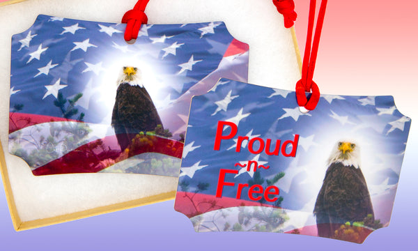 Proud~n~Free - Metal Ornament