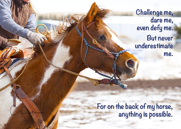 Challenge Me - Greeting Card