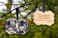Ornament - GO CONFIDENTLY - Wooden