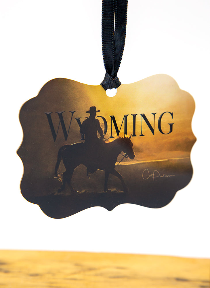 Wyoming Cowboy - Metal Ornament