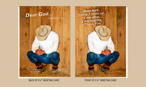 Dear God - Greeting Card