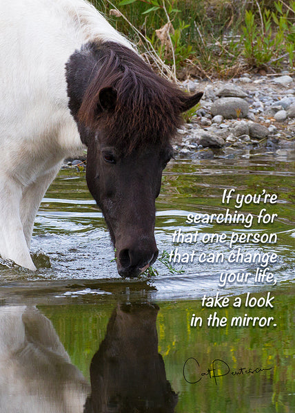 Greeting Card - IN THE MIRROR