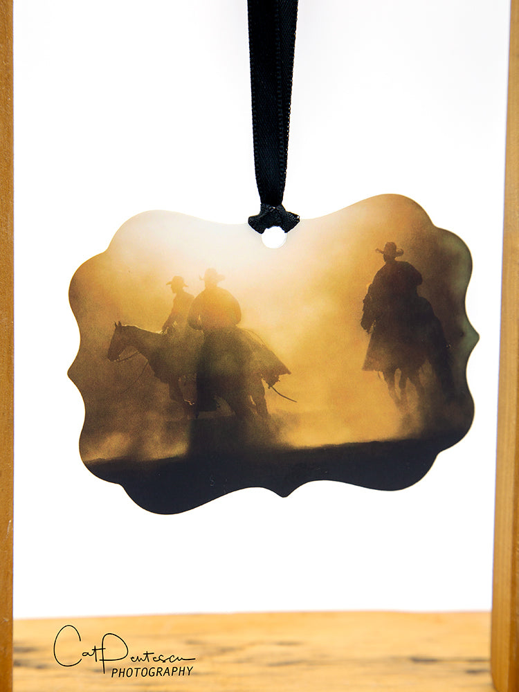 307 Cowboy - Metal Ornament