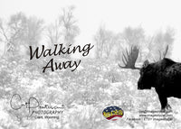 WALKING AWAY - Greeting Card