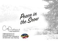 PEACE IN THE SNOW - Greeting Card