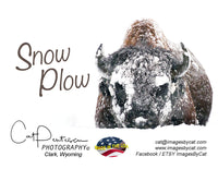 SNOW PLOW - Note Cards