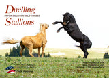 DUELLING STALLIONS - Greeting Card