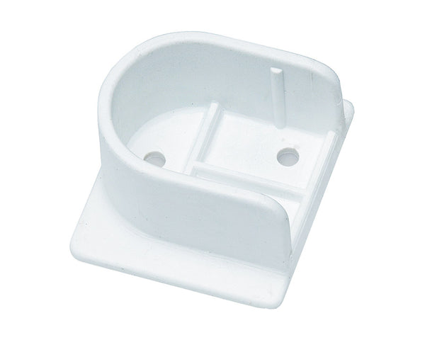 White Plastic U Flange 25mm - Imperial Glass and Timber