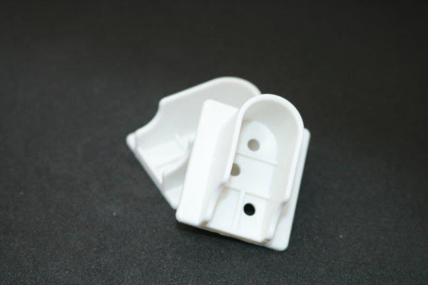 White Plastic U Flange 16mm - Imperial Glass and Timber