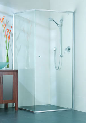 Semi-Framed shower screen - Imperial Glass and Timber