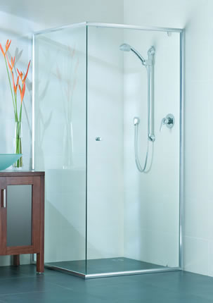 Semi-Framed shower screen