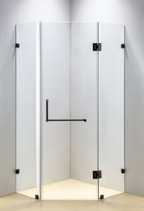 Frameless shower screen - Imperial Glass and Timber