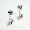 Chrome Rod Fitting Pillar End 25mm (Round) - Imperial Glass and Timber