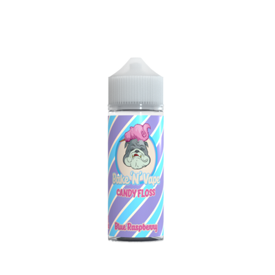 Bake 'N' Vape Blue Raspberry Candy Floss 100ml Shortfill Eliqui