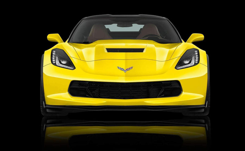Corvette C7 Z07 / Grand Sport 2014-2019 (Fits Chevrolet Stage 2 / Stage 3 Carbon Fiber and Carbon Flash Splitter) Scrape Armor