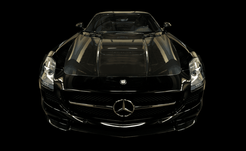 Mercedes-Benz SLS Black Series Coupe 2013-2014 Scrape Armor