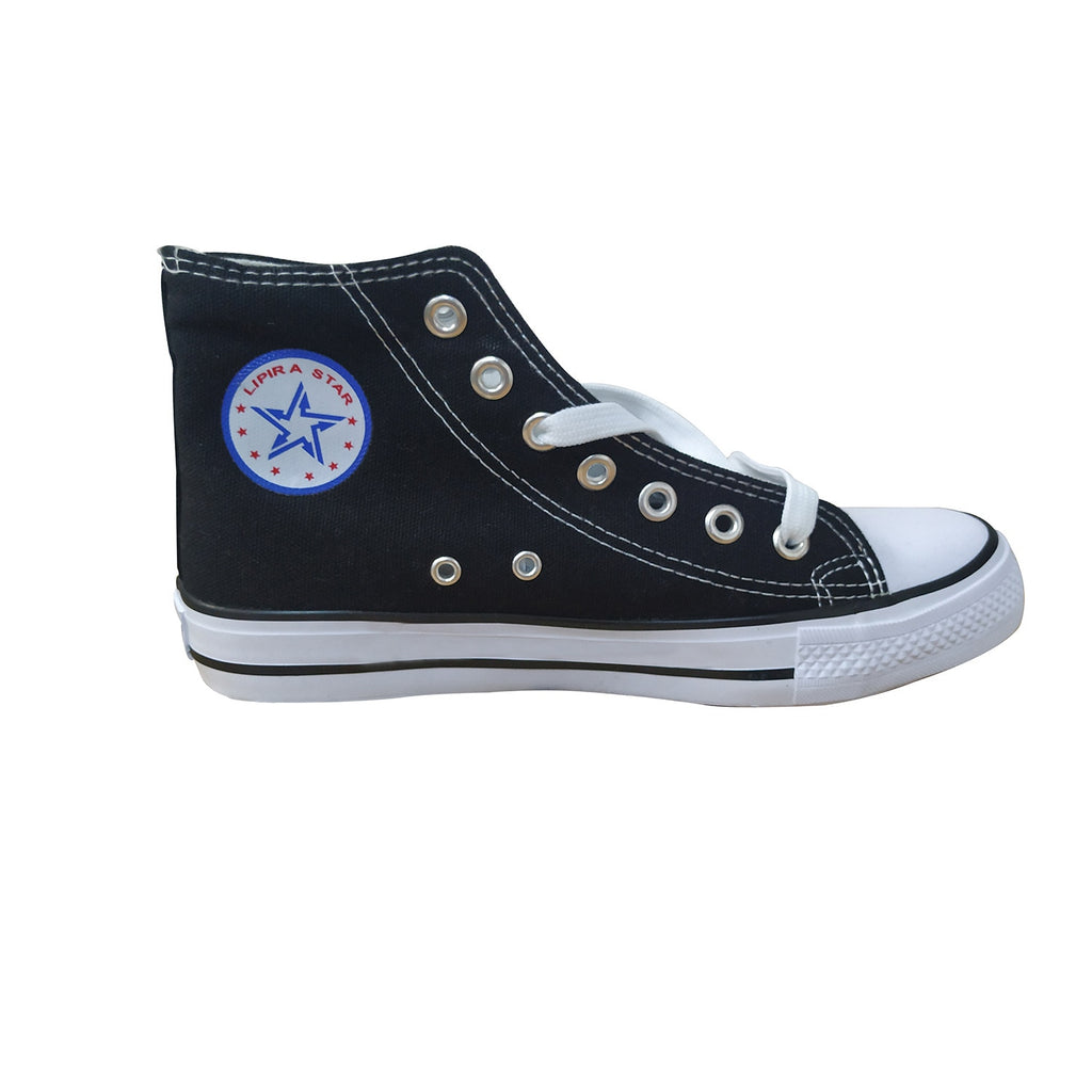 Blackpink Canvas Shoes For Women Causal Wear High Heel Lace Up