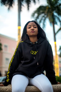 QLTY! Hoodie - Black and Yellow