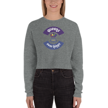 Load image into Gallery viewer, Queens Over Kings Crop Sweatshirt