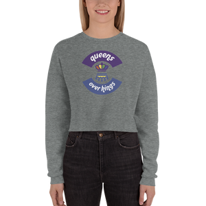 Queens Over Kings Crop Sweatshirt