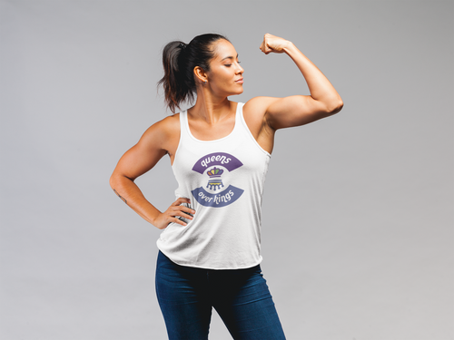 Tri-Blend Racerback Queens Over Kings Tank