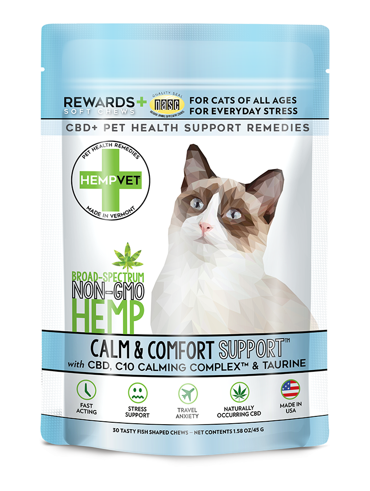 CALM SUPPORT for Cats with 38mg CBD + C10 Colostrum & Taurine