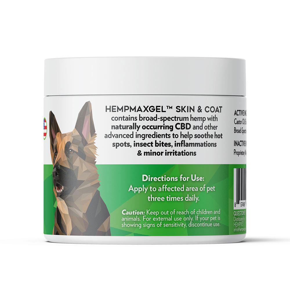 HEMPMAX GEL Skin & Coat with 125mg CBD (2 oz)