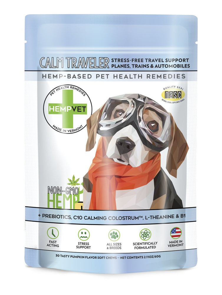 CALM TRAVELER with C10 Colostrum (Non-CBD Hemp Formula)