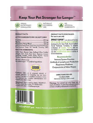 IMMUNITY SUPPORT for Cats with 38mg CBD, Taurine & L-Lysine