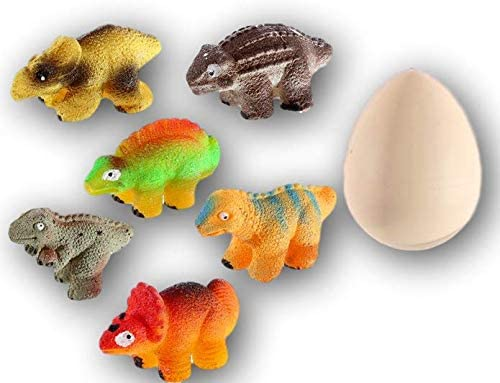 MAGIC GROW Easter Egg Toy Dinasour Hatching Eggs Toy (12 Assorted Eggs) by JA-RU. Easter Party Toy for Boys and Girls Kids Party Favor Toy. Dino Eggs That Hatch. Bath Growing Toy. | Item #312-12A