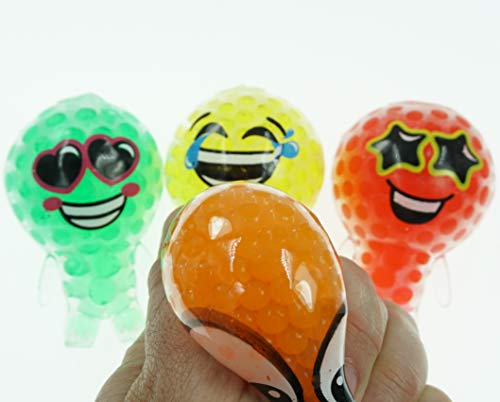JA-RU Jelly People Beads Ball Globbie (Pack of 4) with 1 Bouncy Ball Item #4199-4p