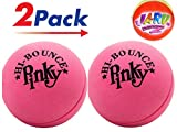 JA-RU Rubber Pink Bouncing Ball (Pack of 2) Plus 1 Collectable Small Ball Item #976slp