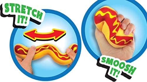 JA-RU Stretchy Hot Dog Squishy Toys ( Units) Anxiety Stress Relief Toys | Sensory Toys for Autistic Children Kids and Fidget Stress Toys for Adults. 5564-p
