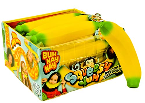 JA-RU Super Stretchy Poopster, Banana and 1 Bouncy Ball Stretches Long, Soft, Delicious. 6448-3340p