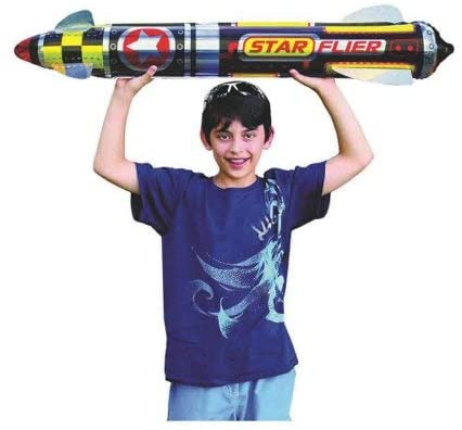 Giant Rocket Glider 41 Inches Long (Pack of 24 Units) with a Collectable Bouncy Ball by JA-RU| Item #5802-24p